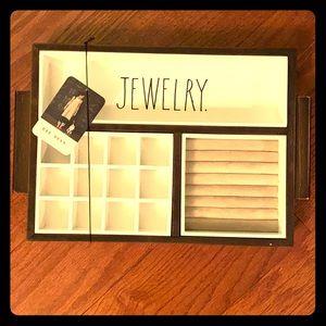 NWT - Rae Dunn wooden Jewelry Tray organizer